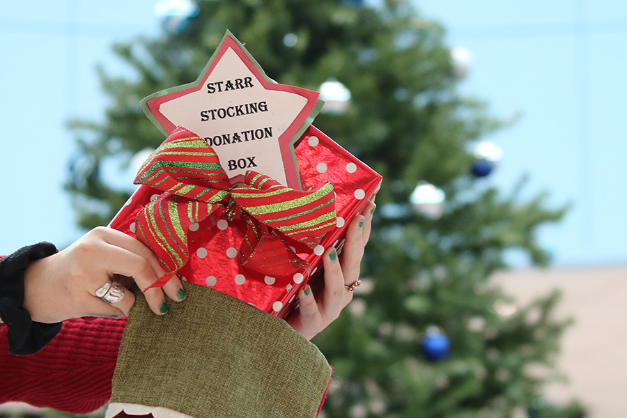 With lots of fundraisers happening around Christmas, Starr's Mill guidance department strives to help members of the Panther family with the Starr Stocking donation drive. Anyone can help out by dropping off gift cards into the red Starr Stocking box in the front office.