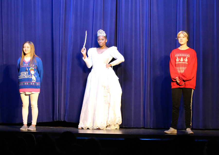 "The cast of the drama department's rendition of ""The Snow Queen"" present the beginning of their play. ""The Snow Queen"" tells the story of a young boy named Kai whose heart is frozen by the Snow Queen and the adventure of his best friend to rescue him."