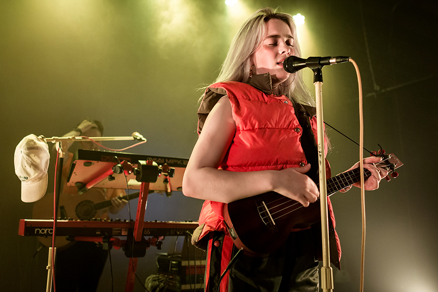 Billie Eilish performs at the Hi Hat in Los Angeles.. Eilish, a popular electropop artist, is on the rise to becoming a star at only age 16.