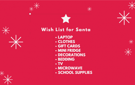 The first semester is coming to a close and that means Christmas is almost here. For seniors this means it is time to ask for gifts for college in order to have the best school year possible next year.