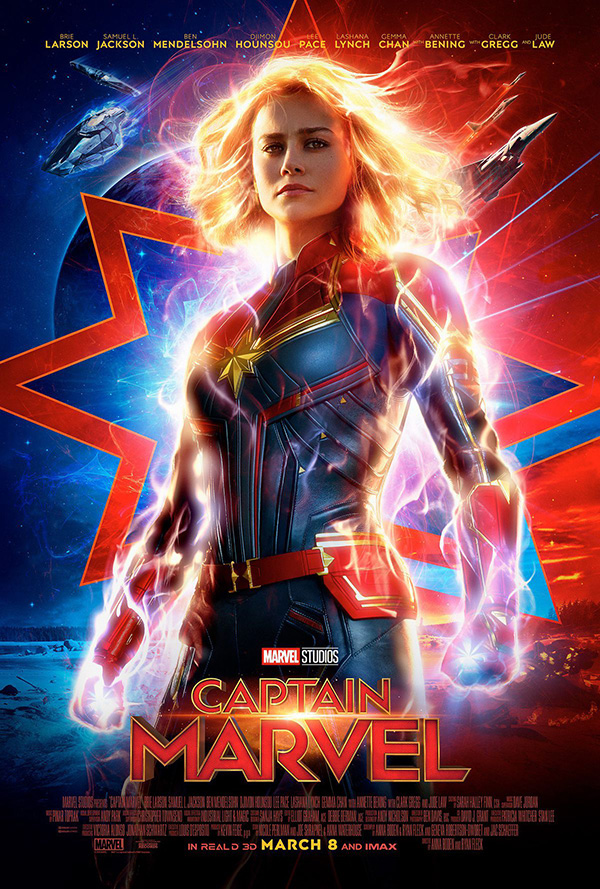 """The newest official poster for """"Captain Marvel."""""""