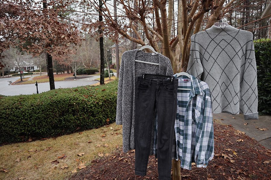 Stay warm this winter by layering clothes. A wide array of sweaters are available at local stores that allow you to stay on trend and be comfortable during the school day.