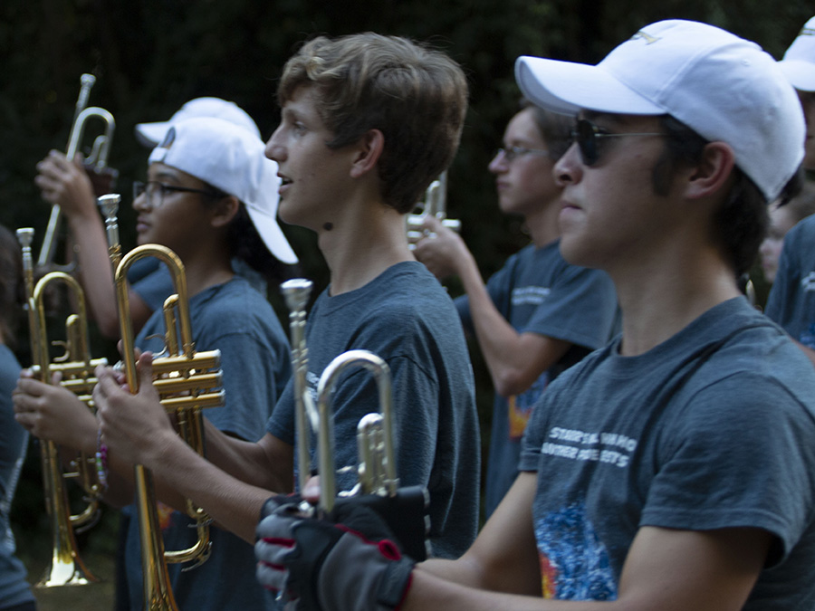 """The Panther Pride marching band performs during the 2018 Homecoming parade. Each high school performs in Fayetteville's MLK day parade on a five-year rotation. The Starr's Mill band will play """"We are the World"""" to commemorate Martin Luther King Jr.'s in this year's parade held on Jan. 21."""