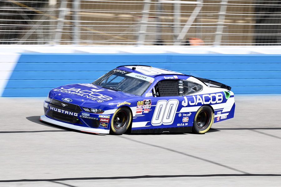 Cole+Custer%2C+driver+of+the+No.+00+Jacob+Companies+Ford+for+Stewart-Hass+Racing%2C+wheels+his+car+around+1.54-mile+Atlanta+Motor+Speedway+during+one+of+Friday%E2%80%99s+practices.+Custer+paced+the+first+session+at+a+speed+of+178.218+mph+and+fell+to+third+during+the+second+practice.+Custer+will+lead+the+race+to+the+green+flag+this+afternoon+at+2+p.m.