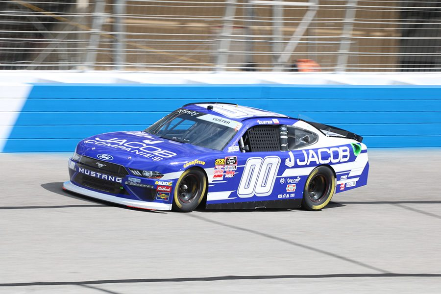 Cole+Custer%2C+driver+of+the+No.+00+Jacob+Companies+Ford+for+Stewart-Haas+Racing%2C+finished+first+in+the+first+NASCAR+Xfinity+Series+practice+with+a+top+speed+of+178.218+mph%2C+good+enough+for+a+time+of+31.108+seconds.+No+manufacturer+dominated+the+top+five%2C+but+Chevy+had+nine+drivers+finish+in+the+top+15.