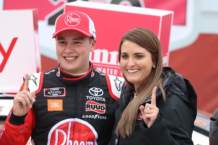 Christopher+Bell%2C+in+the+No.+20+Rheem+Toyota+for+Joe+Gibbs+Racing%2C+won+the+Rinnai+250+race+at+Atlanta+Motor+Speedway.+Bell+led+for+142+of+163+laps+en+route+to+his+first+win+of+the+2019+season.