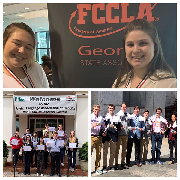 Students in HOSA, FCCLA, world languages, and economics competed all over the state, earning multiple awards, recognitions, and honors.
