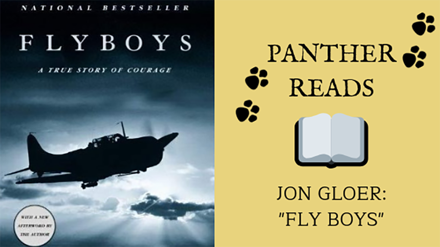 In+the+first+edition+of+Panther+Reads%2C+Jon+Gloer%2C+one+of+the+U.S.+history+teachers+at+Starr%E2%80%99s+Mill%2C+talks+about+the+WWII+nonfiction+story+%E2%80%9CFlyboys%2C%E2%80%9D+a+true+tale+of+heroism+and+leadership.+