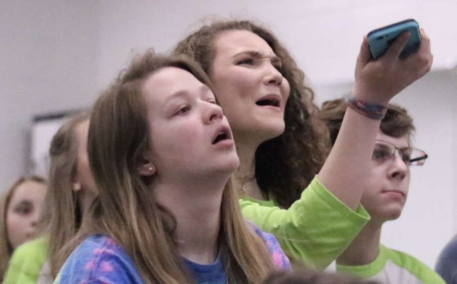 "Cast of ""Back to the '80s"" react to the long-awaited results of the Shuler Hensley Awards. The production failed to place in the nominations, but their reaction quickly turned to determination as the students look forward to next year."