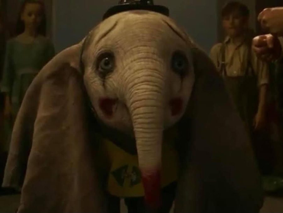 Dumbo the elephant looks out at the circus crowd as they laugh at him. Dumbo is back on the big screen in Disney's live-action remake, which was modernized with top-quality technology but lacking anything fresh.