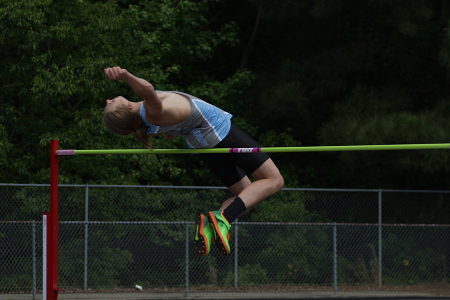 Senior+Cole+Shadinger+jumps+5+feet%2C+10+inches.+Shadinger+placed+fifth+in+the+high+jump.