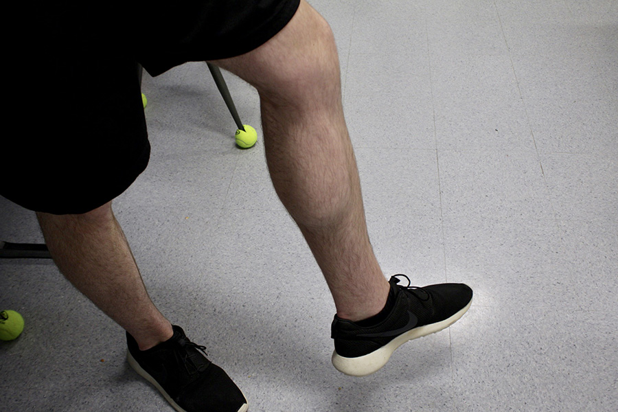 Senior Ryan Allen shows off his natural hairy legs. Shaving has played a long and complicated role in the history of humanity, but nowadays hairy legs are becoming more normal.