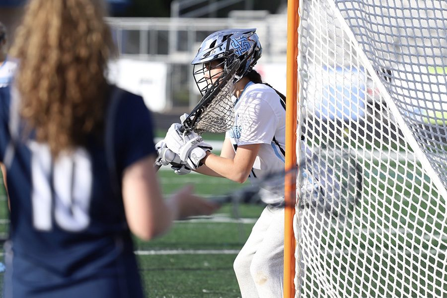 Junior+goalie+Karlee+Jenks+surveys+the+Lady+Paladin+offense.+Jenks+acted+as+a+brick+wall+for+Starr%E2%80%99s+Mill%2C+only+allowing+two+goals+on+the+night.+Her+stellar+play+helped+the+Lady+Panthers+make+their+second+consecutive+A-AAAAA+GHSA+State+Championship+game.