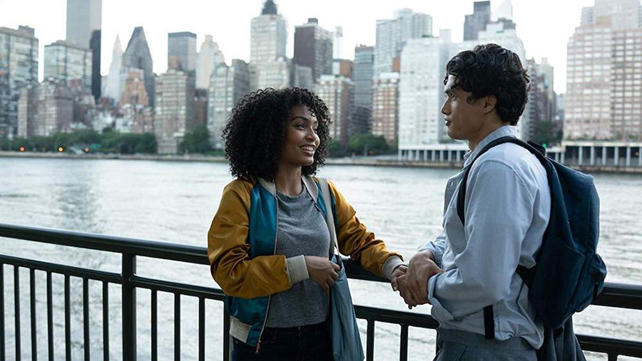 "Natasha Kingsley and Daniel Bae, played by Yara Shahidi and Charles Melton, discuss fate and love. ""The Sun Is Also a Star"" is a new teen romance film that is not just the normal cliché. This movie also shows the struggles that youth deal with in their lives."