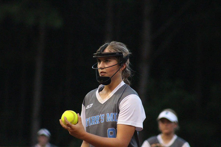 Aug.+13%2C+2019+-++Sophomore+Lilli+Backes+prepares+to+deliver+a+pitch+against+the+McIntosh+Lady+Chiefs.+Backes+threw+a+complete+game+and+had+a+total+of+15+strikeouts.+The+Panthers+defeated+the+Chiefs+8-0.+