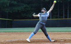 Sophomore Lilli Backes pitches against McIntosh. Backes threw a one-hit complete game shutout, including 15 strikeouts and four walks. She also performed well offensively, adding two RBIs on her 1-4 batting night.