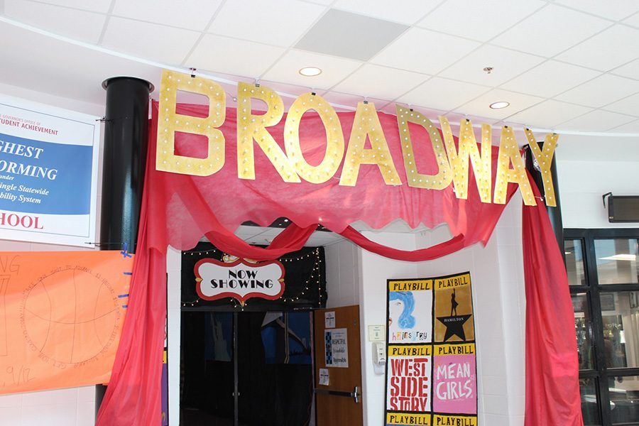 Sept.+9%2C+2019+-+The+senior+hall+decorated+from+Homecoming+week.+The+theme+this+year+is+Broadway.+The+senior+hall+has+the+musical+Wicked.+Each+grade+level+has+a+different+musical.+