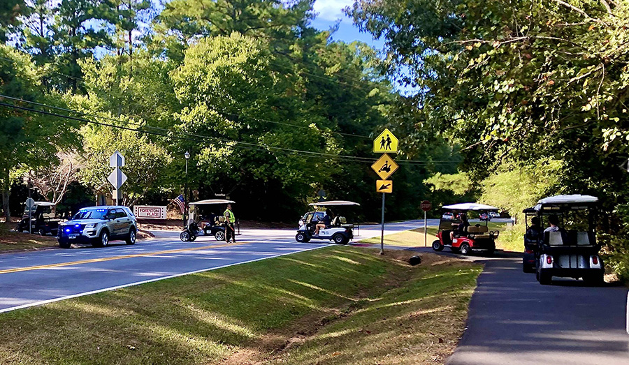 Every day at 3:45 p.m., students leaving Starr's Mill High School by golf cart face the danger of crossing Redwine Road. It has been approximately two years since the idea of a golf cart tunnel has been brought to the local government, yet the intersection remains unchanged.