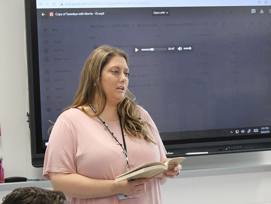 Special education teacher Mandi Morton joins the Starr's Mill family this year. She moved up with her group of students from Rising Starr.