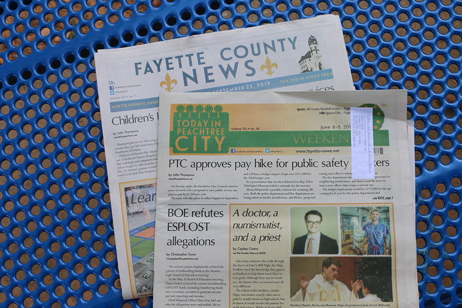 Locally printed newspapers in Peachtree City and Fayette County have reduced the amount of print papers they are producing. The role of local newspapers is changing due to the effects of technology.