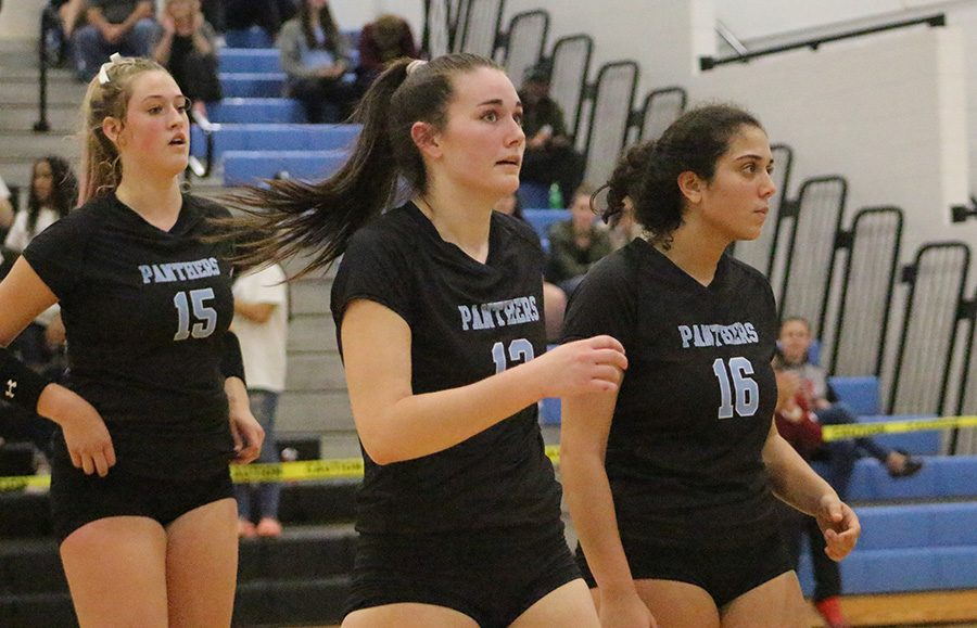 %28left+to+right%29+Sophomores+Nicole+Smith+and+Grace+Ramkissoon+and+senior+Tessa+Laney+walking+off+the+court.+Laney+will+continue+her+volleyball+career+at+Troy+University%2C+while+Smith+and+Ramkissoon+will+come+back+for+the+Panthers+next+season.