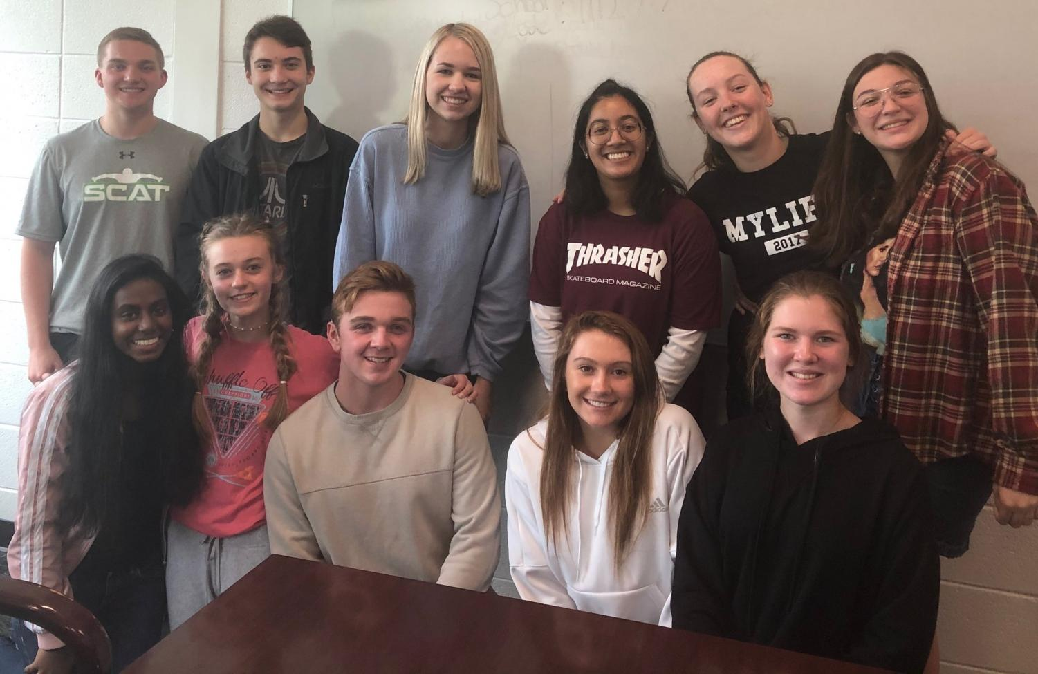 Twelve Starr's Mill students have moved on to the state level GHP competition. Top row left to right: Gabe Rogers, Henry Ravita, Ashley Callaghan, Ishani Peddi, Emily Hawkins, and Annabella Ellis. Bottom row left to right: Teja Pulagam, Amanda Robison, Noah Ellis, Jolie Lester, and Natalie Robichaux. (Not pictured Will Knowlton).