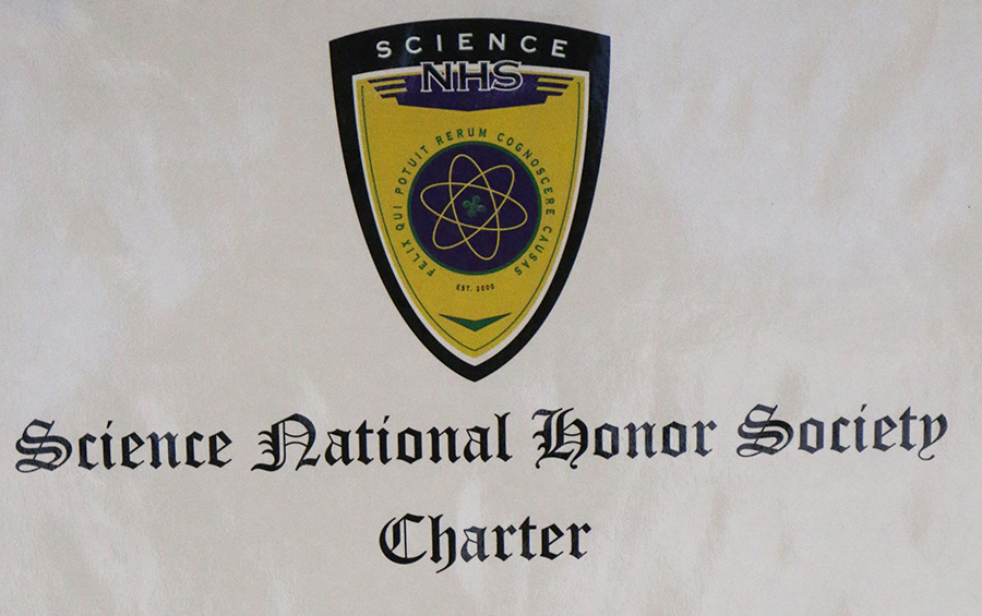 This fall, Starr's Mill acquired a charter for a chapter of the Science National Honor Society. SNHS encourages students to advance their knowledge in classical and modern science.
