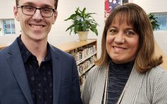 STAR Student Kyle Robinson stands with Spanish teacher Madeline Rodriguez. Rodriguez's efforts as a teacher inspired Robinson in his academic journey.
