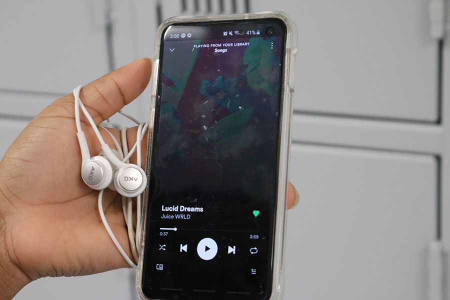 """Freshman Sebastian Galla's is currently listening to """"Lucid Dreams"""" by former rapper Juice Wrld. """"Lucid Dreams"""" is Juice Wrld's most popular song and the one that started his career."""