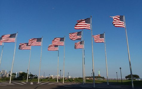 Multiple flags hoisted across an empty public space. The Coronavirus outbreak has led to situations that people of the current generation could never have imagined. However, there are many reasons to believe in what we are doing is for the best. Our American pride is more evident now than it has been in a long time.