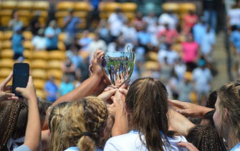 Starr's Mill Lady Panther Lacrosse team celebrates their state championship win last season. Starr's Mill was on track to defend the state championship for the second year in a row, starting 5-1 before the season was canceled due to COVID-19.
