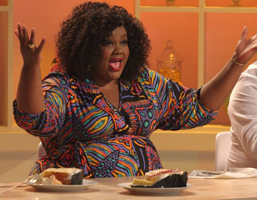 """Nicole Byer, one of the main judges, tastes a contestant's cake. """"Nailed It!"""" is a baking competition show meant for nonprofessional bakers to put their skills to the test. Especially during these hard times, it is important to have hilarious shows like this to brighten up someone's day."""
