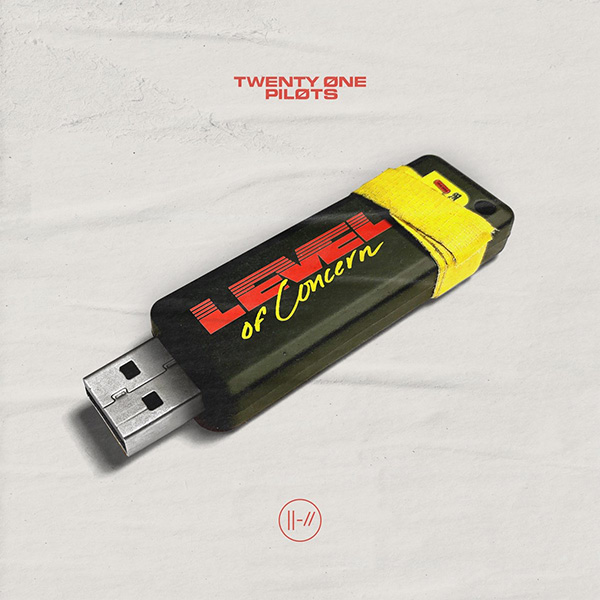 """Cover for the single """"Level of Concern,"""" written by two-man group Twenty One Pilots. """"Level of Concern"""" is just one of the many songs that bring about hope during this global pandemic."""