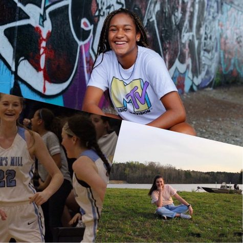 """Seniors Chloe Spradlin (top, Jo Captures Photography), Ashtyn Lally (left), and Bre Kozusko (right) are featured in this week's """"Senior Spotlights."""" If you want to be included in next week's senior shout out or nominate a senior, direct message the Prowler's Instagram @smhsprowler, or email Caroline Hubbard at 2023hubbard.caroline@mail.fcboe.org."""