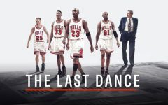 """Promotional image for """"The Last Dance,"""" featuring Steve Kerr, Scottie Pippen, Michael Jordan, Dennis Rodman, and Phil Jackson (left to right). ESPN's latest documentary series, """"The Last Dance,"""" features the story of the 1997-98 Chicago Bulls team and provides a look into all the things that made the finale for the Bulls' dynasty so special. The series stands as an incredible sports story that deserved to be told."""