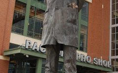 Statue of the late Vince Lombardi outside of Lambeau Field. On Sept. 3, 1970, Lombardi passed away of colon cancer, leaving behind an untouched football legacy. Whether it be from words of wisdom or exceptional records as a coach, there will never be another sports figure like Lombardi.