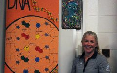 Science teacher Kelly Rock has assumed the role of department chair since Dan Gant retired at the end of last school year. Rock has been teaching for 21 years and loves to do interactive activities with her students.