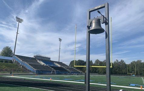 The famous victory bell stands at Panther Stadium. Its sound being chimed after every single win. This season, Starr