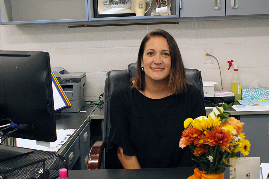 Heather Smith joins the secretarial staff to help the assistant principals. She replaces Judy Dillon who moved to the guidance department.