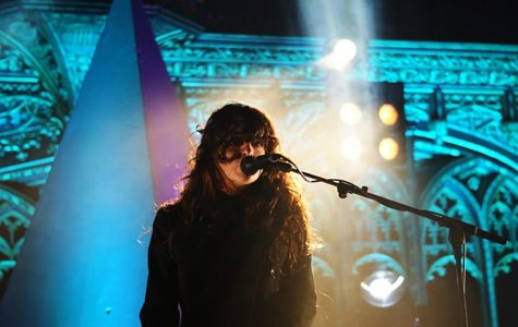 Victoria Legrand, lead vocalist and keyboardist of Beach House, performs during a live concert. Some of her influences are Gene Clark, Neil Young, The Cure, and Cocteau Twins.