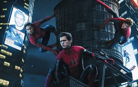 """Current promotional poster for the new movie """"Spider-man 3: The Spiderverse."""" """"Spider-man 3"""" will feature the three biggest Spider-man actors, Tobey Maguire, Andrew Garfield, and Tom Holland."""