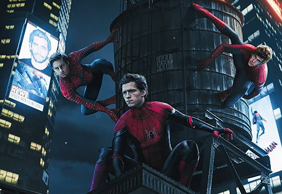 Current+promotional+poster+for+the+new+movie+%E2%80%9CSpider-man+3%3A+The+Spiderverse.%E2%80%9D+%E2%80%9CSpider-man+3%E2%80%9D+will+feature+the+three+biggest+Spider-man+actors%2C+Tobey+Maguire%2C+Andrew+Garfield%2C+and+Tom+Holland.+