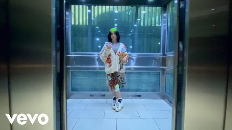 """Billie Eilish in the music video for """"Therefore I Am."""" The song was released this past Thursday as well as the video filmed solely on an iPhone."""