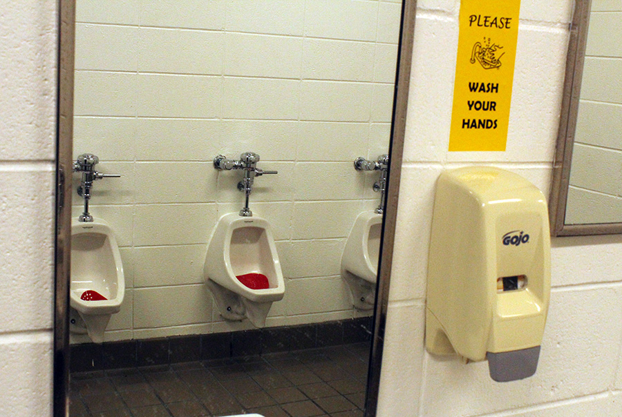 Dated restrooms pose potential health risk for students and staff at Starr's Mill High School. A solution that could pay off for many years into the future is motion activated appliances.