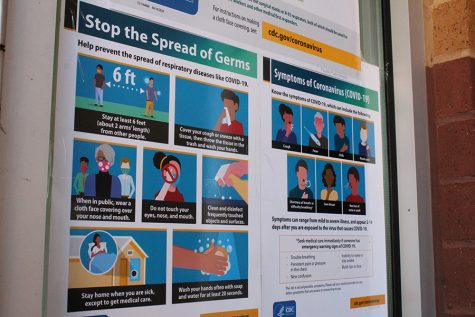 "Infographics located at the main entrance of Starr's Mill depict safe and healthy tactics to use to combat the spread of COVID-19. Fayette County has seen an increase in COVID numbers within the school system. In order to protect the students, staff, and faculty from the spread of COVID, Starr's Mill needs to consider reverting back to ""yellow"" status."