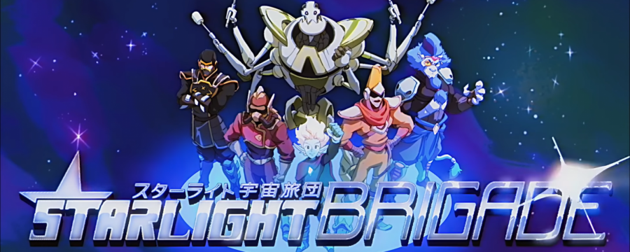 """Image of the Starlight Brigade in the music video with the same name by Tupper Ware Remix Party. """"Starlight Brigade"""" is just the song anybody could use to get them hyped up with an electric rock space adventure."""