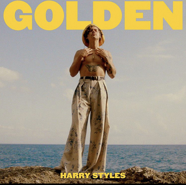 """Promotional photo for the new """"Golden"""" music video. The video garnered nearly 30 million views in the first week after its release."""
