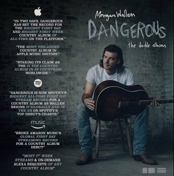 """""""Dangerous: The Double Album"""" by Morgan Wallen is topping charts and smashing records in the world of country music. Even with 30 new songs, fans can't get enough."""