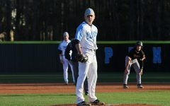 "Senior pitcher Daniel Courtney stands on the mound during the Panthers' region opener against the Harris County Tigers. Courtney provided the jolt Starr's Mill needed to take down the Tigers 5-1. Courtney only allowed four hits and threw five strikeouts against Harris County. ""We just got to build off of this [win] and continue to play like we can,"" Courtney said. ""Continue to play in the region, just keep it up, and keep winning."""