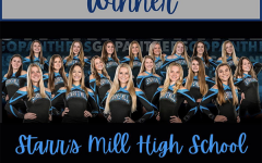 For the first time in school history, the Starr's Mill cheer team has been selected as Team of the Year by the Georgia Cheerleading Coaches Association. The title was awarded for their skill in cheerleading and service within the community.